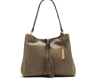 NWT! Vince Camuto Stone Gray Leather Hobo